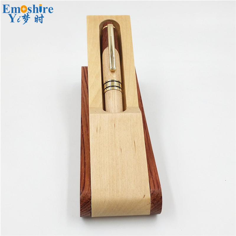 Emoshire Factory direct sales mahogany pieces of wood signature pen suits wooden pen box creative gift customization (10)