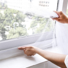 130x150cm Adhesive Anti-Mosquito Fly Bug Insect Curtain Mesh Window Screen Home Summer Mosquito Protect Screen Net enjoy fresh A 150cmx130cm fly mosquito window net mesh screen indoor insect fly screen curtain mesh bug mosquito net easy to fit with tape y20