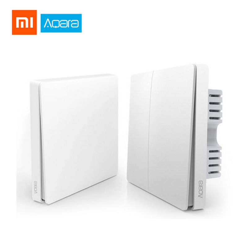 Xiaomi Aqara Wall Switch Smart ZigBee Zero Line Fire Wire Light Remote Control Wireless Key Wall Switch Without Neutral Mi HomeXiaomi Aqara Wall Switch Smart ZigBee Zero Line Fire Wire Light Remote Control Wireless Key Wall Switch Without Neutral Mi Home