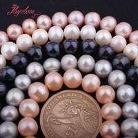 7,5-9 мм почти круглый пресноводный жемчуг натуральный камень бусины для DIY Ожерелье Браслеты ювелирные изделия делая свободные 14,5