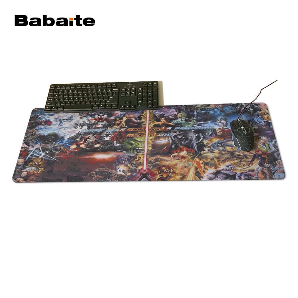 Babaite Rubber Mouse Pad Computer Office Gaming Mousrmat Batman Mousepad Rubber Play Mat Marvel Comics Design Mouse to Pad