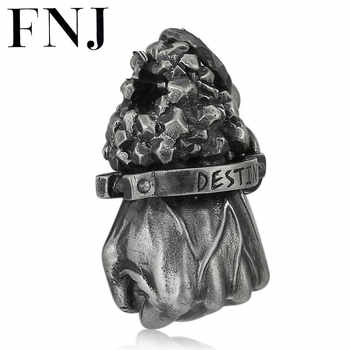 FNJ 925 Silver Destiny Pendant Punk Hand Your Fate Hang Original Pure S925 Thai Silver Pendants for Women Jewelry Making - DISCOUNT ITEM  30% OFF All Category