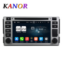 Kanor 8 Core Android 6 0 Car Dvd Player For Hyundai Santa Fe 2005 In Dash