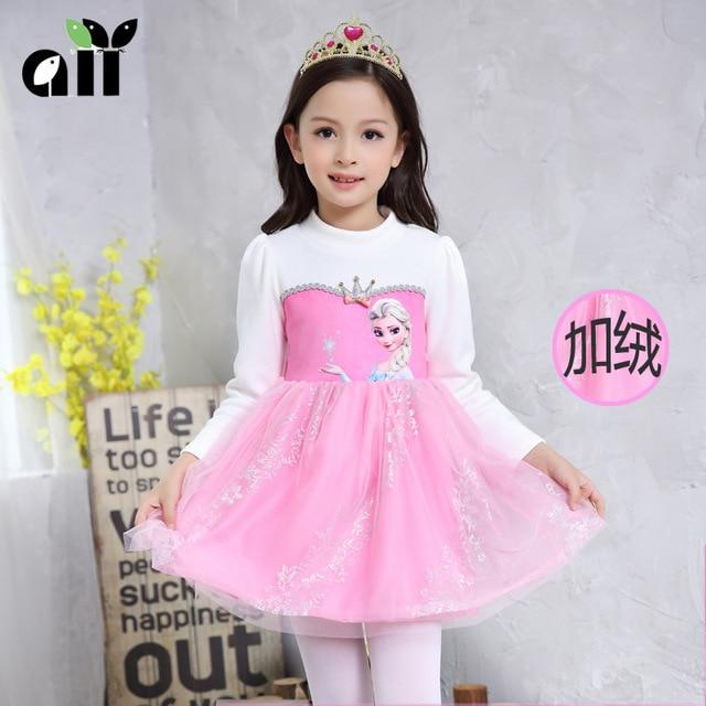 Disney marca dress anna elsa disfraz princesa sofia dress infantil ...