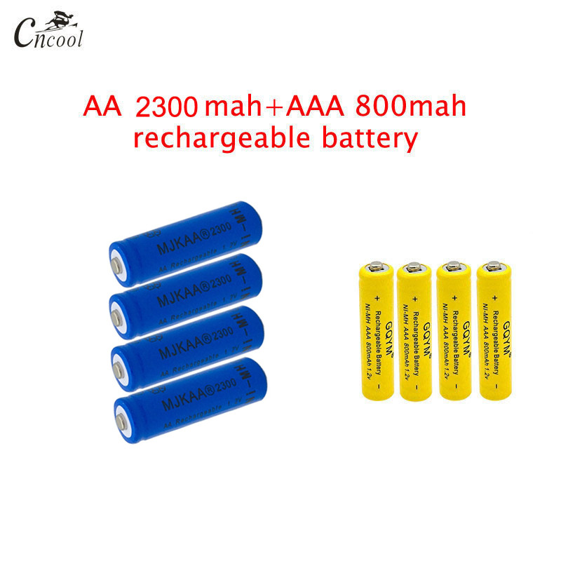 20 Pcs AA Blue Packaging 2300mAh + 20 Pcs AAA 800mAh Ni-MH Rechargeable Batteries