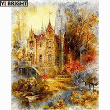 5d diy pintura diamante ponto cruz diamante bordado cênica castelo padrão hobbies e artesanato diamante mosaico kits kbl