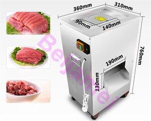 Image 5 - BEIJAMEI 2020 Leistungsstarke 2200W 300 kg/std fleisch schneiden maschine kommerziellen vertikale fleisch slicer cutter maschine preis