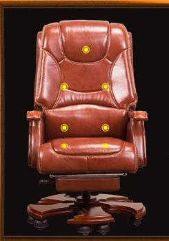 ¿Jefe? Cuero Real reclinable. Oficina chair.02