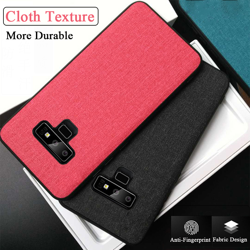 Case For Samsung S8 S9 S10 Plus Galaxy S10 Lite Cloth Texture Soft Fabric Cover For Samsung Galaxy Note 9 8 S7 Edge Phone Coque