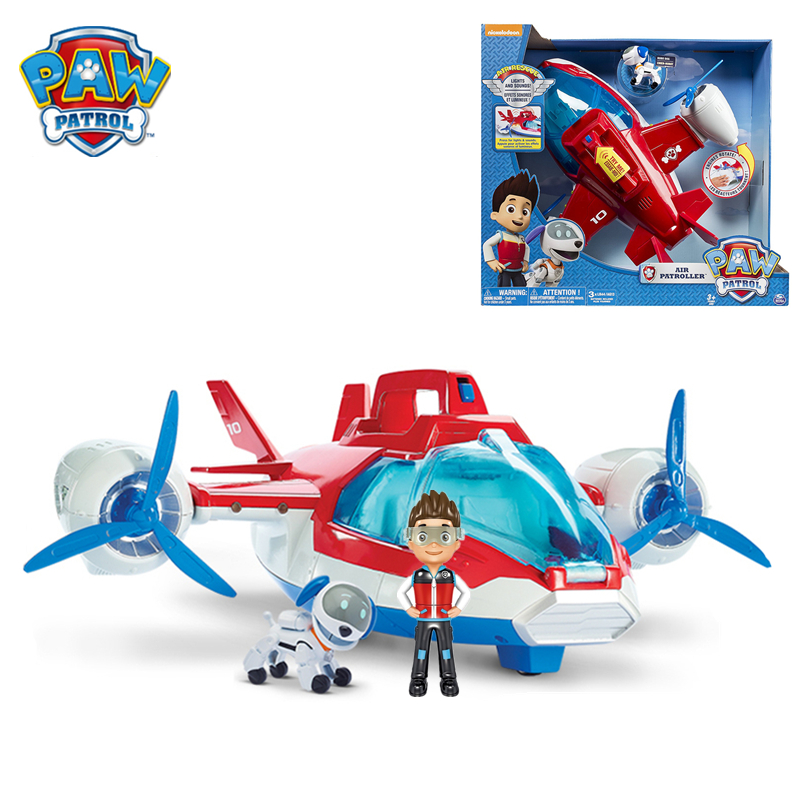 Paw Patrol Toys Aircraft Yacht Robot Dog Captain Ryder Ferry Bus Control Tower Music Action Figures Toys For Children Gifts