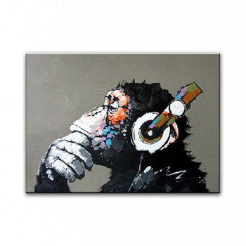 NEW 100% hand-painted Home decoration painting famous oil painting high quality Modern artists painting Lovely gorilla