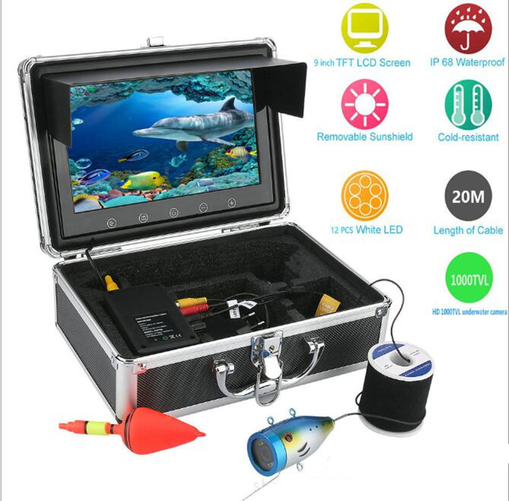 9 pollice Display LCD 1000TVL Pesca Subacquea Della Macchina Fotografica a prova di Acqua IP66 Fish Finder9 pollice Display LCD 1000TVL Pesca Subacquea Della Macchina Fotografica a prova di Acqua IP66 Fish Finder