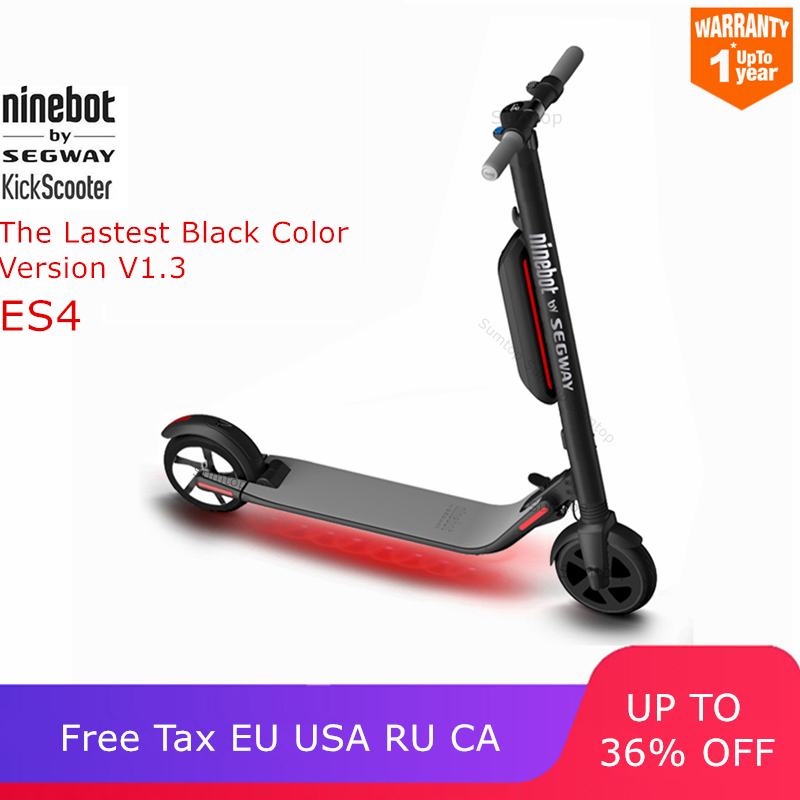 Ninebot KickScooter ES4 ES2 Smart Electric Scooter foldable lightweight board hoverboard skateboard V1 3 Black Color