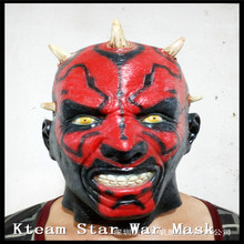 Halloween Party Cosplay Deluxe Movie Darth Maul mask costume of party horror latex full head mask halloween star War mask