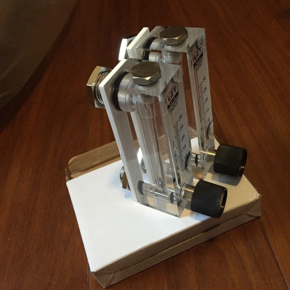 цены LZT-6T 0.3-3 L/min Square Panel Type Gas Flowmeter Air Flow Meter rotameter  LZT6T Tools Flow Measuring