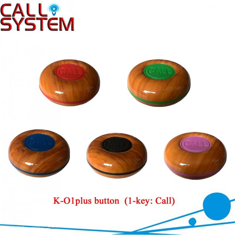 13 pcs/paquet K-O1plus bouton appel sans fil 100% étanche sonnerie de cloche (5 couleurs) émetteur de radiomessagerie invité