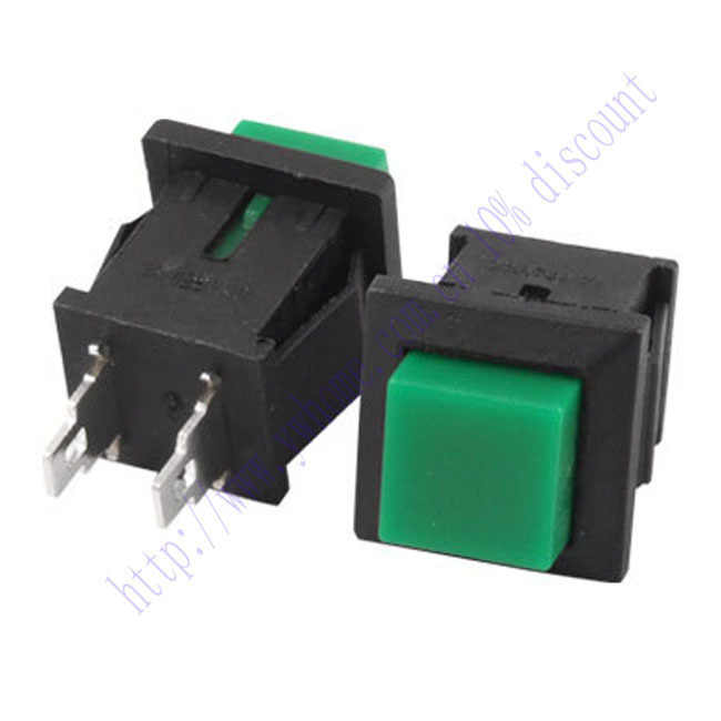 New 5 Cái Green Square Momentary Push Button Chuyển No SPST 1A 125 V AC DS 430
