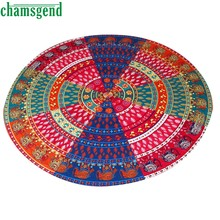 New Round Indian Printing Towel Scarve Yoga Mat Mandala Tapestry Beach Picnic Throw Rug Blanket Beach Towel Covers up Jan3ZYP(China)