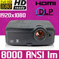 1920x1080 Theater Cinema 300inch 8000ANSI lumens Home 1080p full HD Native Colorful video Digital DLP Projector Proyector