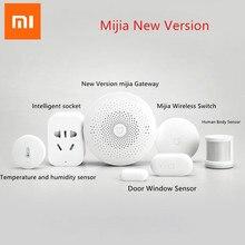 2020 Xiaomi Mijia умный дом наборы шлюз 3 двери окна датчик человека беспроводной переключатель температуры влажности Zigbee розетка