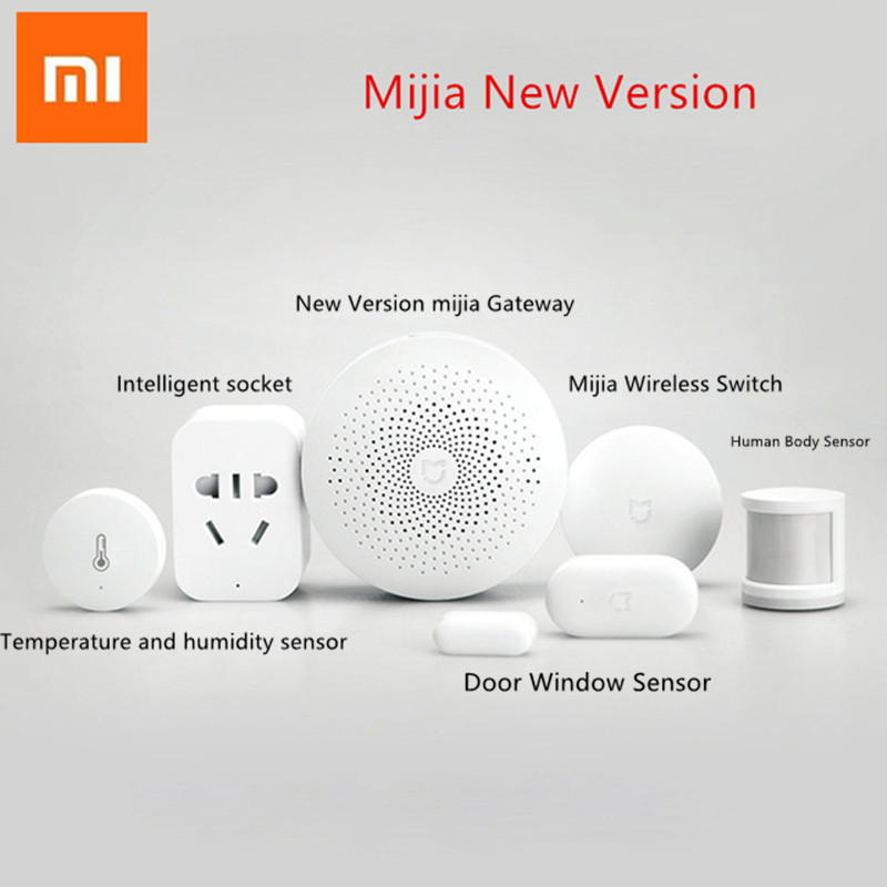 New Version Xiaomi mijia Smart Home Kits Gateway Door Window Sensor Human Body Sensor Wireless Switch Humidity Zigbee Socket MI ...