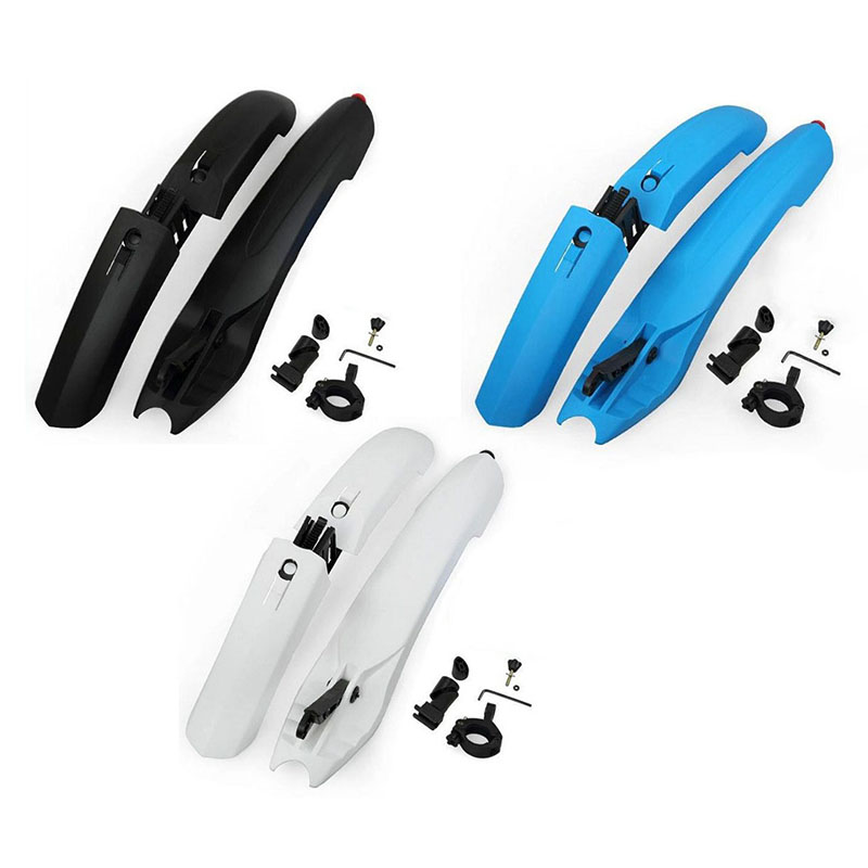 цена на Bicycle Bike Mud Guard Fender Bike Parts Quick Release Cycling Fender Wings For Mountain Bike Front Rear Fender With Tail Light