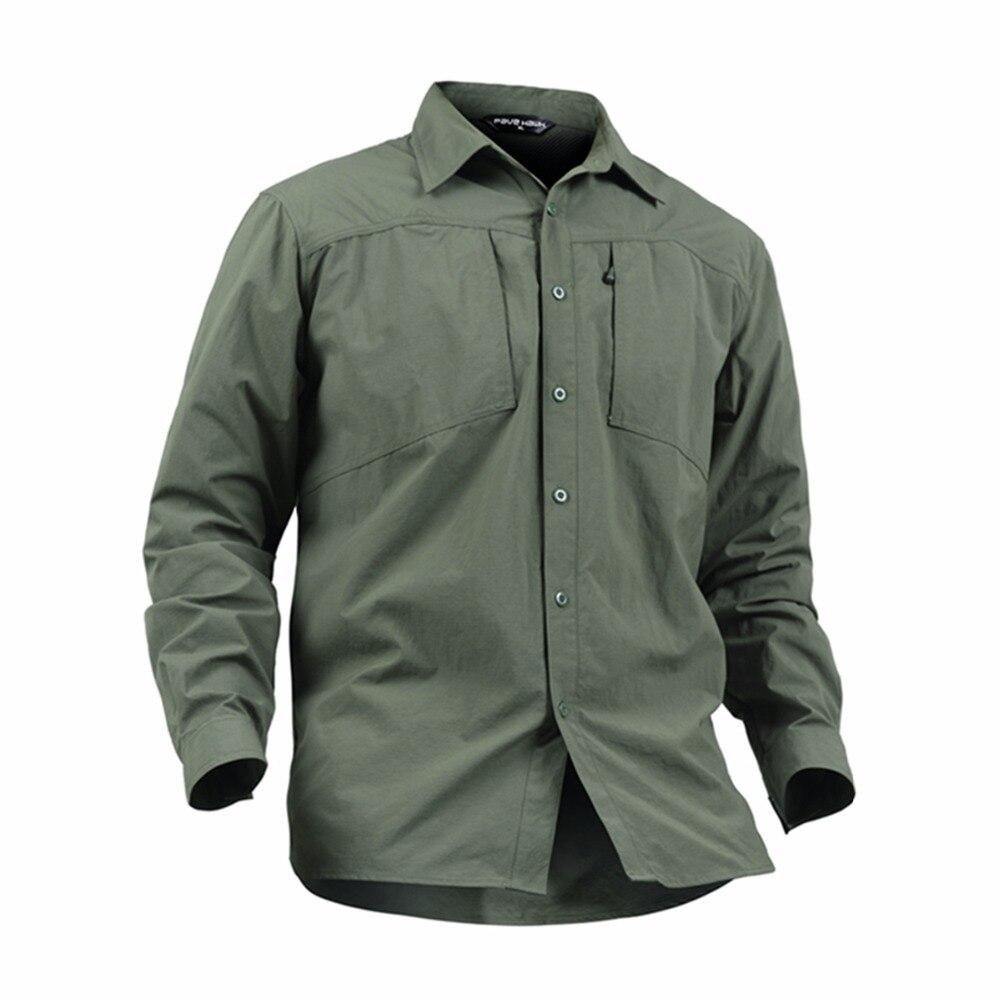 Top qualité randonnée chemises hommes en plein air Sport chemise solide séchage rapide pêche chasse chemise homme Camping randonnée Trekking chemises