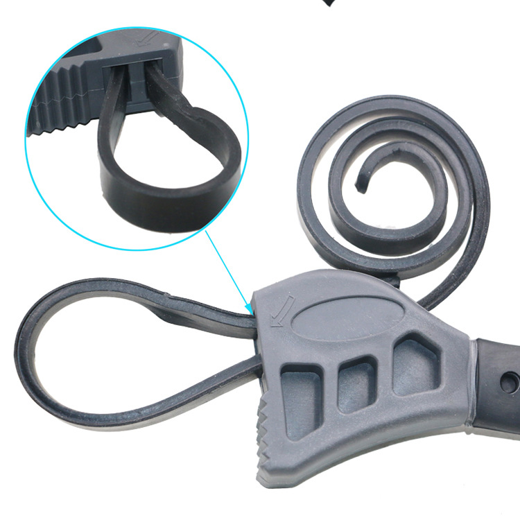 Multi Function Adjustable Rubber Strap Wrench Repair Tool Opener