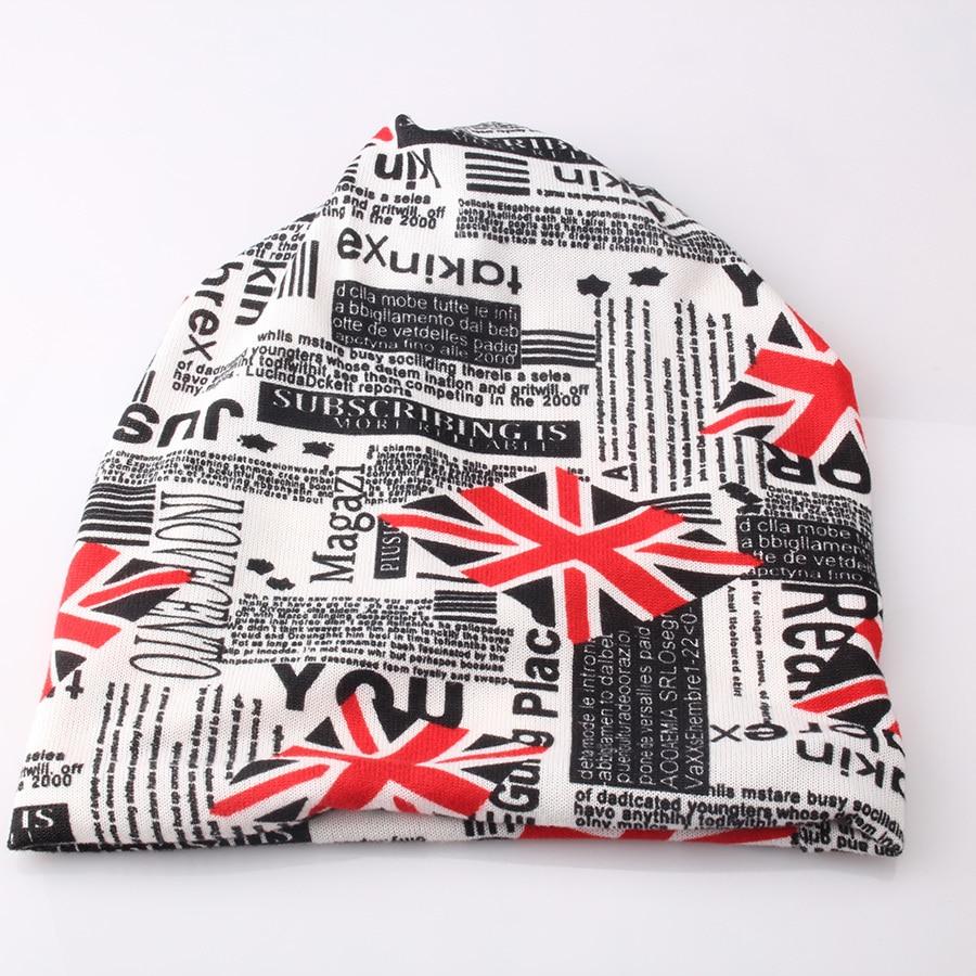 100% Wahr Neue Mode Hüte Die Britische Flagge Muster Turban Frauen Koreanische Star Mit Rollkragen Mützen Pile Stapel Drei Useage Hut Gesundheit Effektiv StäRken