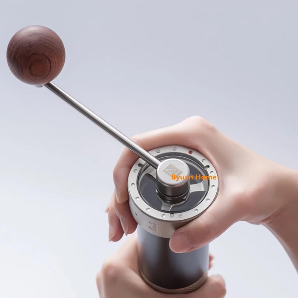 1 قطعة MYM55pro الفولاذ المقاوم للصدأ القهوة طاحونة المحمولة القهوة مطحنة البسيطة القهوة طحن النواة سوبر دليل القهوة أدوات يوصي-في أدوات طحن من المنزل والحديقة على  مجموعة 1