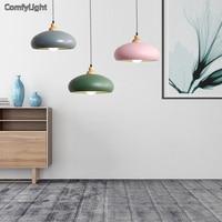 Nordic designer led Pendant Lights bedroom/living room/Loft E27 holder Metal Lampshade Hanging Lamp Iron Suspension Lighting
