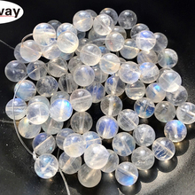 Natural round white moonStone Beads 5-7mm 1pcs random choose For Jewelry Making DIY Jewelle