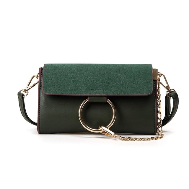 7e518468503f Frosted shoulder bag vintage handbag Ring chain designer crossbody bags  female simple handbags women messenger bags 2017