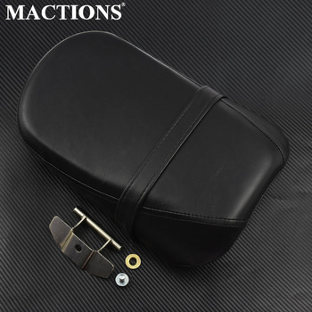 Motorycle Passenger Seat Rear Seat Pad Synthetic Leather Black Kits For Kawasaki Vulcan 650 VN650 With Accessories