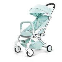 Европейские Роскошные складной детская коляска зонт детские автомобильные перевозки малыша коляска Путешествия ребенок универсал легкий