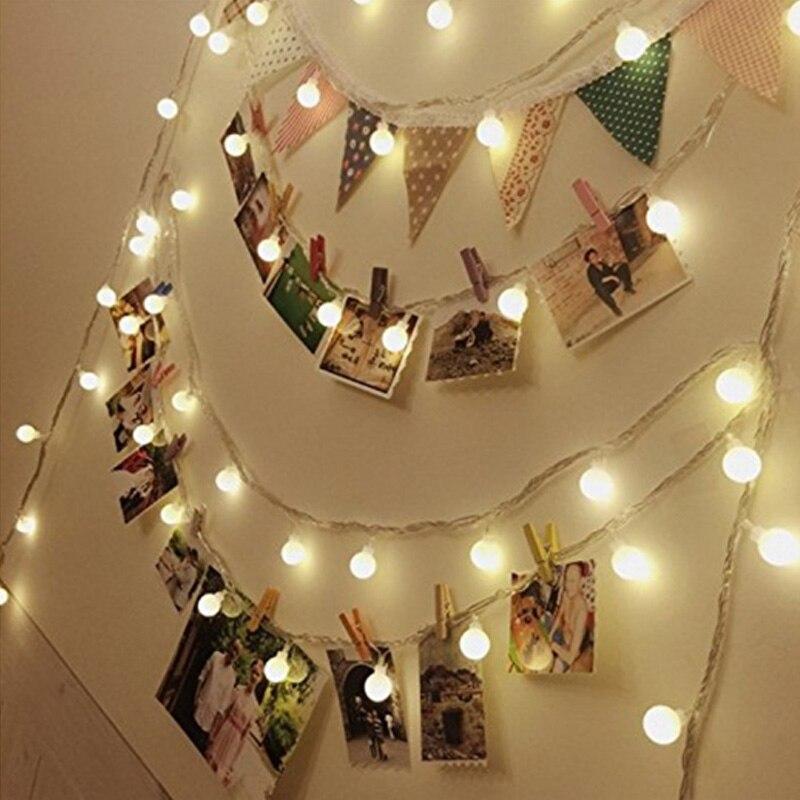 AC 220V led string light 10M 50led 10M 80led led light outdoor Wedding party decoration Christmas light home decoration