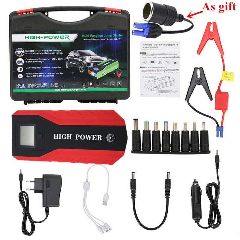 Multi-Function Car Jump Starter 89800mAh 12V 600A Portable Starting Device Car Charger For Car Battery Booster Buster Power Bank