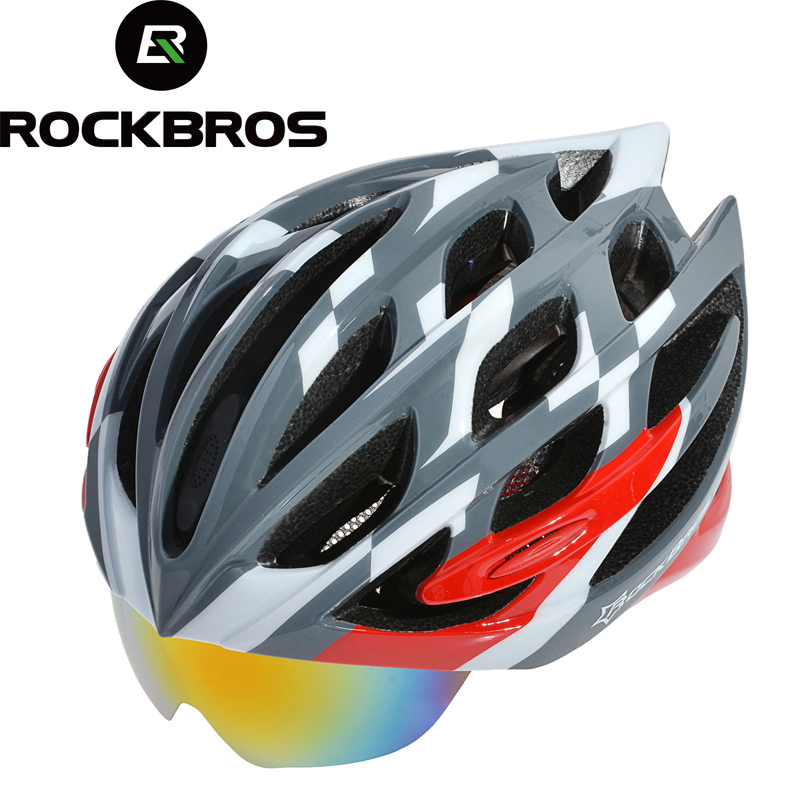 ROCKBROS Ultralight Cycling Helmet Casco Ciclismo Casco MTB Bike Helmet & Integrally molded glasses Special helmet&3Lenses цена
