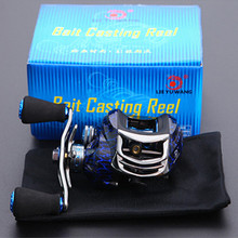 Double Brake Ice Crack Design 14+1 BB Steel Bearing Aluminum Spool Fishing Reel Baitcasting Reel Carp Baitcasting Fishing Gear