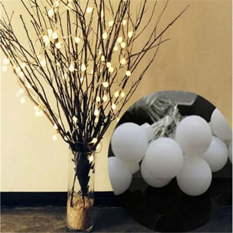 3M 20 LED ball <font><b>Battery</b></font> Operated LED String Lights for Xmas Garland Party Wedding Decoration Christmas <font><b>Flasher</b></font> Fairy Lights