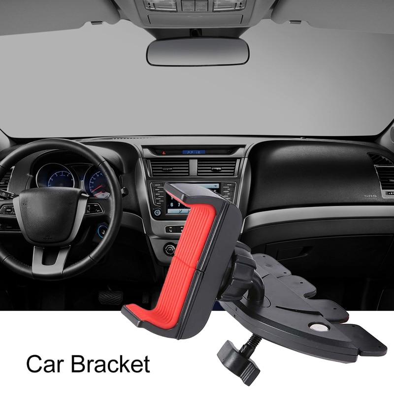 Car Phone Holder Black CD Slot Mount Cradle 360 Degree Rotation by Top Tech