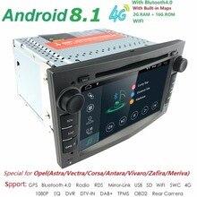 Lettore DVD dell'automobile per Opel Astra H Combo Corsa Meriva Vivaro Tigra Signum Radio Stereo Iphone GPS sistema di Navigazione Android 8.1 DAB