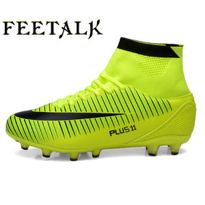 b7f563c1c4 Leoci Soccer Cleats High Ankle Football Shoes for Men High Ankle