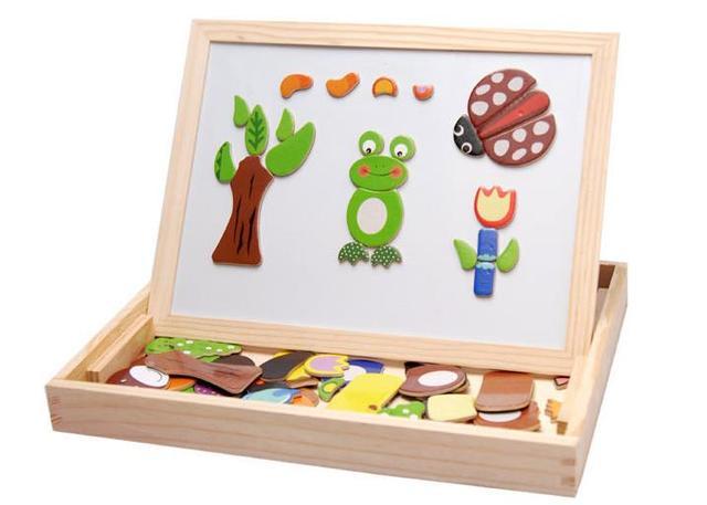 Frete grátis magnetismo Animal 3D puzzles crianças educacionais de madeira puzzle brinquedos clássicos, Crianças presentes