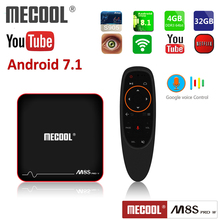 1 year iptv subscription android 7.1 tv box MECOOL M8S PRO W Amlogic S905W 2GB ram 16GB rom 2.4G WiFi 4K H.265 Set Top Box mecool m8s pro l 4k tv box android 7 1 smart tv box 3gb 16gb amlogic s912 cortex a53 cpu bluetooth 4 1 hs with voice control