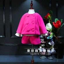 South Korea s 2016 winter new lady Han Fan Princess woolen coat woolen shorts two piece
