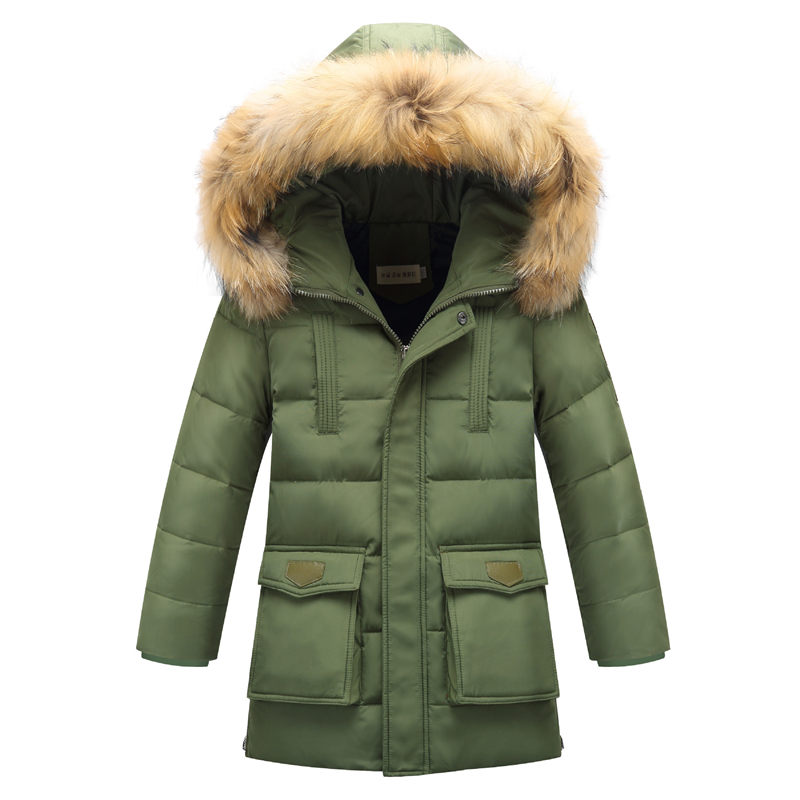 Children Down Parkas for Winter Warm Coats Thick Solid Color Children's Jacket For Boys Outerwear Hooded Kids Clothes children winter coats jacket baby boys warm outerwear thickening outdoors kids snow proof coat parkas cotton padded clothes