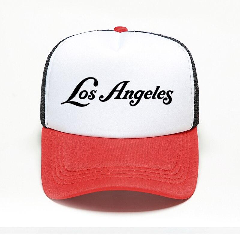 Los Angeles LA nueva marca moda gorra de béisbol para hombre estilo Punk Hip Hop Snapback sombrero deportivo al aire libre de malla gorra de Dropshipping. Exclusivo.