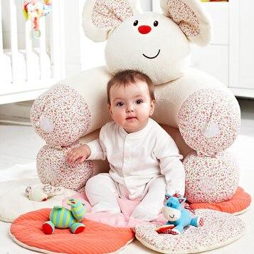Белый Мышь надувные Детские Диван сиденья Blossom Ферма Сядьте Me Up Уютный младенческой мягкий диван игровые коврики EC-005
