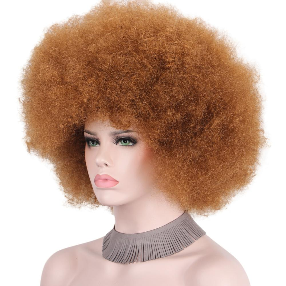 Afro Clown Wig Big Top Fans Party Wigs Women Men Kids Curly Football Fans Wig None Lace Wigs Synthetic Hair Unsex Hair Extensions & Wigs